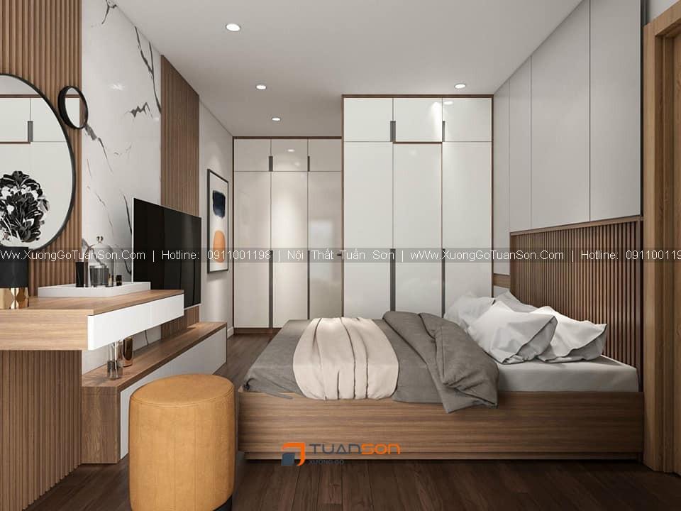 Thiết kế nội thất căn hộ số 11 (84.6m2) 2PN Phương Đông Green Park