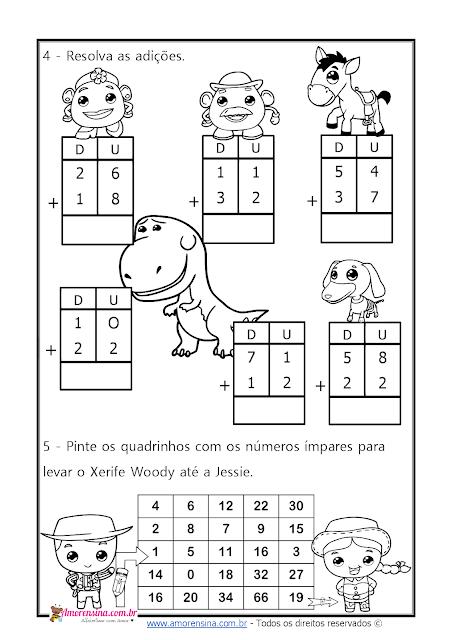 Alfabetização matemática, atividades com sequência numérica, atividades de matemática