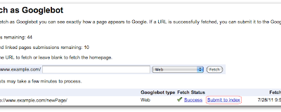 Official Google Webmaster Central Blog: Submit URLs to Google with Fetch as Googlebot
