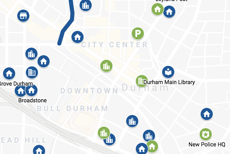 Durham Construction Map
