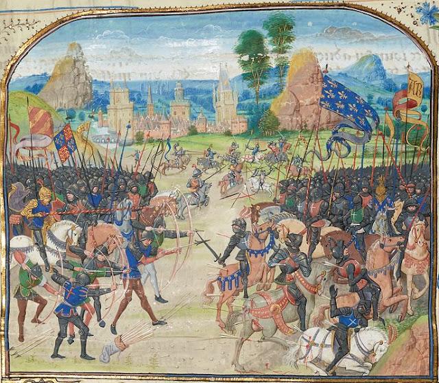 peinture représentant la bataille de Poitiers avec Jean II