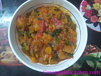 Spring Onion tomato Curry