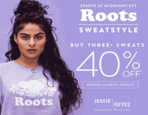 Roots Sweats Sale Up To 40% Off