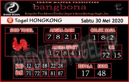Prediksi HK Sabtu 30 Mei 2020 - Bang Bona