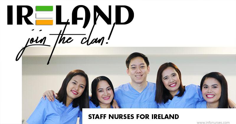 Staff nurses for Ireland