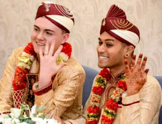 The first gay Muslim couple showing off their rings