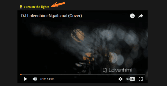 blogger turn off on light video siam dan