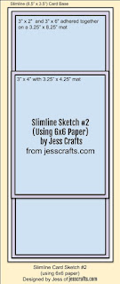 Sketch for Slimline from 6x6 Paper Template #2 by Jess Crafts
