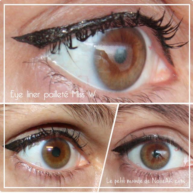 Eye liner pailleté doré bio Oeil de biche Miss W