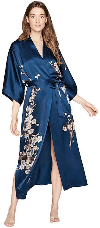 Best Women's Long Silk Robes With 100% Pure Silk