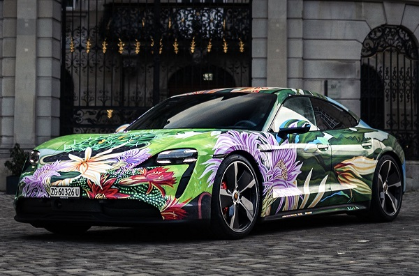 Porsche Taycan ArtCar Richard Phillips