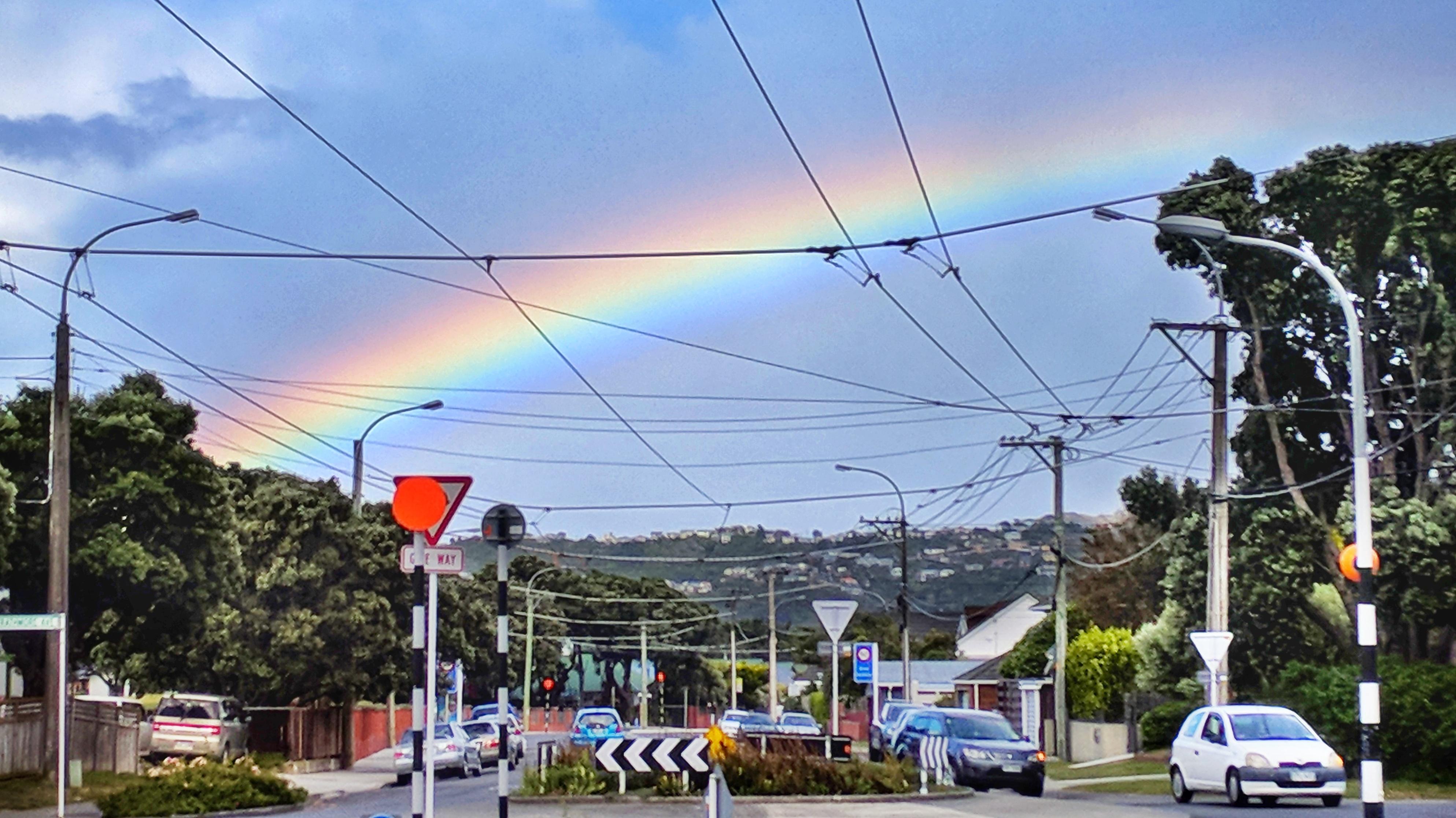 Daytime rainbow over Strathmore