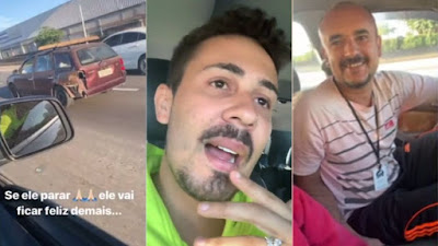 Resultado de imagem para Carlinhos Maia aborda motorista na estrada e dá um carro novo pra ele