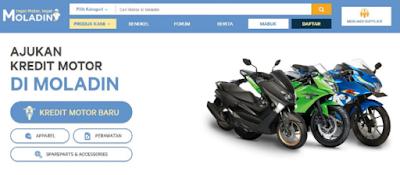 Daftar Harga Kredit Motor Online di Moladin DP Termurah