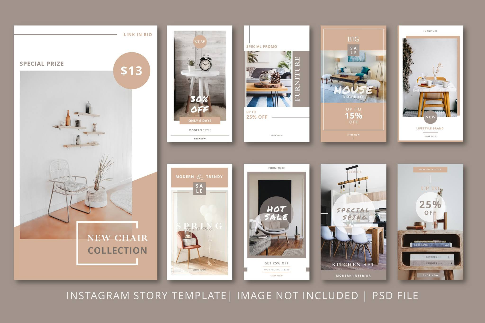 Download open source banners PSD social media and Instagram in the field of decoration and fashion