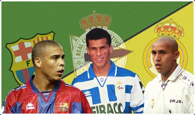 Ronaldo Rivaldo Roberto Carlos Barcelona Deportivo Coruña Real Madrid