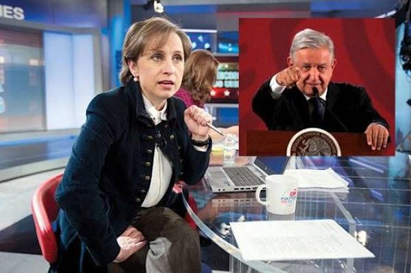 Carmen Aristegui le tunde y se rebela en contra de AMLO