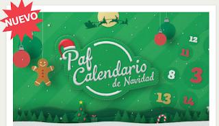 Paf calendario adviento promos 1-24 diciembre 2018