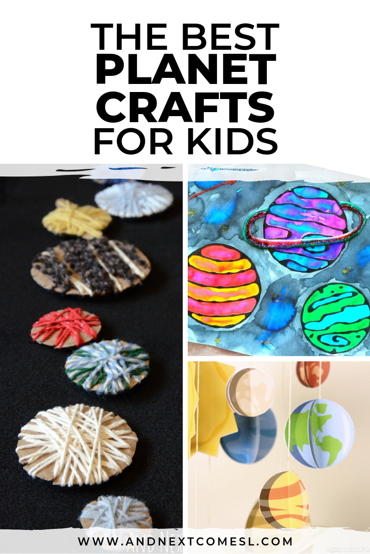 Planet crafts for kids who love space
