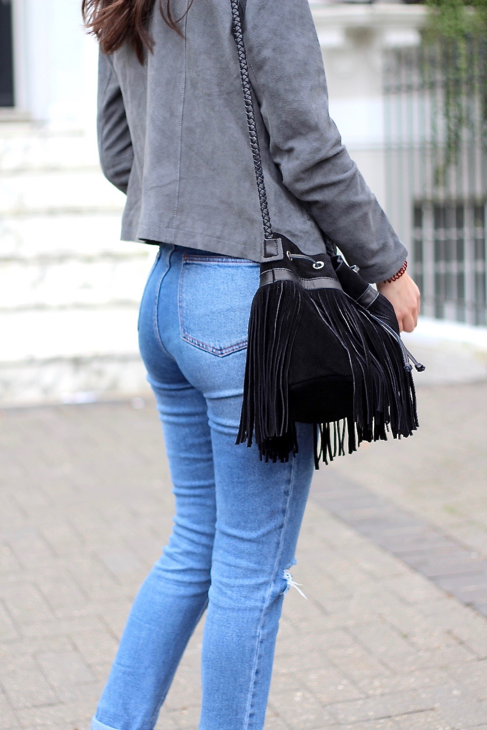 leather jacket mom jeans asos