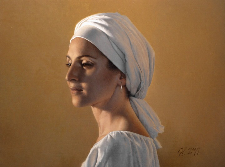 08-Melody-David-Gray-Lost-in-Thought-Realistic-Oil-Paintings-www-designstack-co