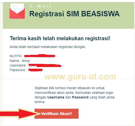 gambar registrasi login sim beasiswa guru s1 2019