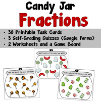 Candy Jar Fractions Task Cards Distance Learning