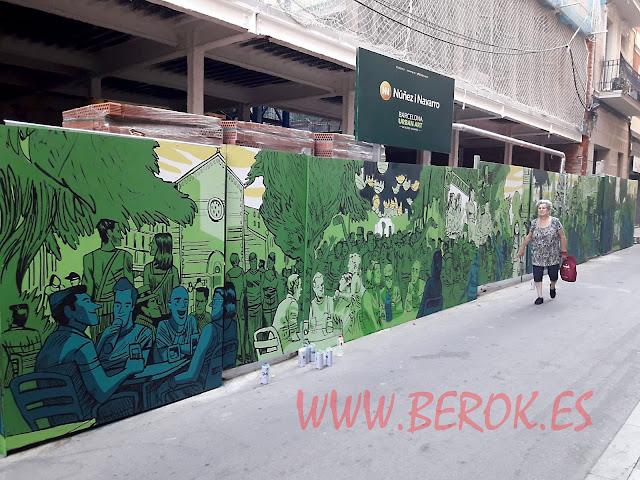 Arte Urbano Passeig de Gràcia Verd Núñez i Navarro