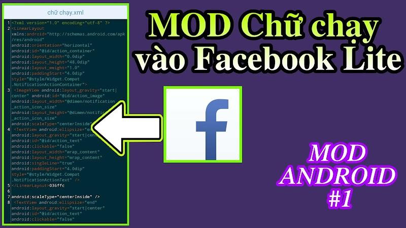 Hướng dẫn MOD thêm chữ chạy vào FB LITE │MOD Android #1