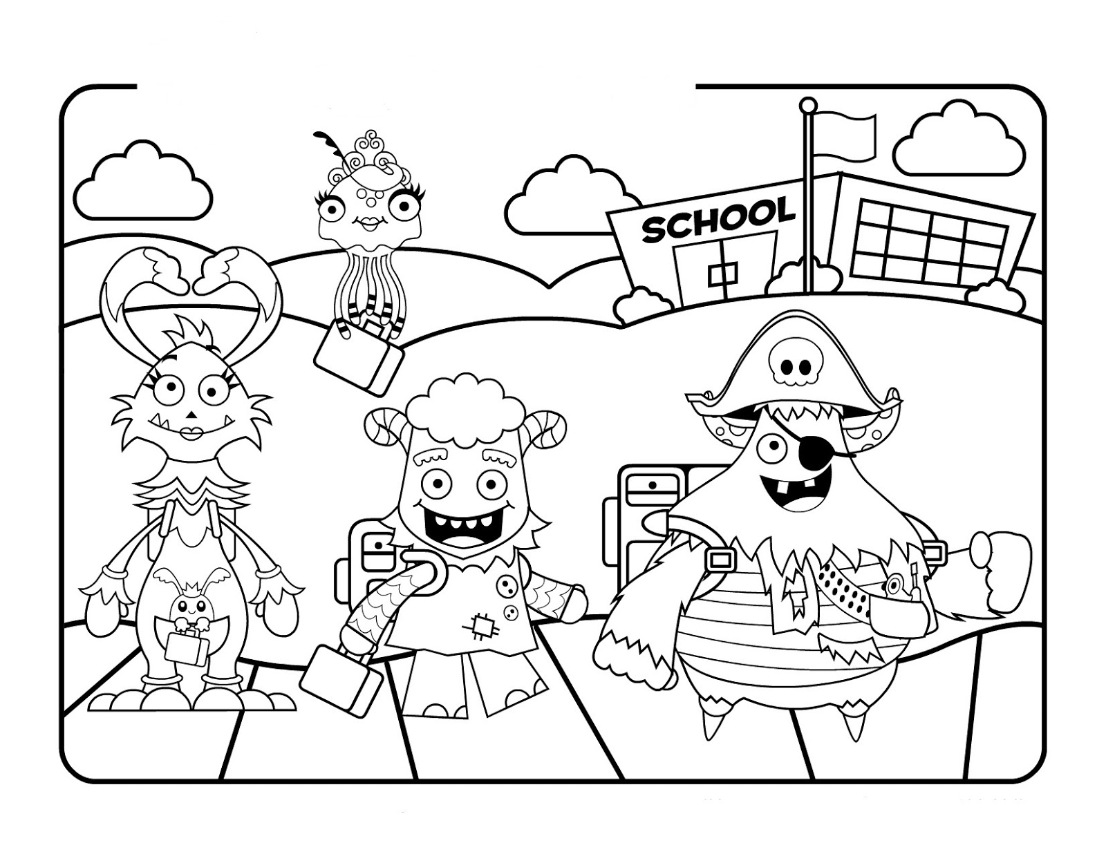 Back to School Coloring ~ Child Coloring