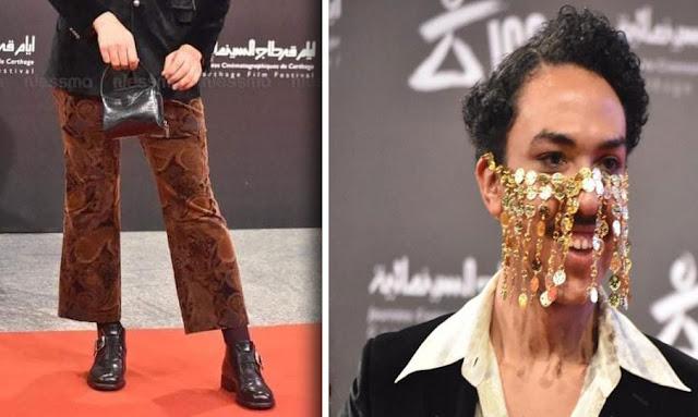 تونس : بالصور الراقص والممثل أحمد الطايع يثير الجدل في افتتاح أيام قرطاج السينمائية JCC
