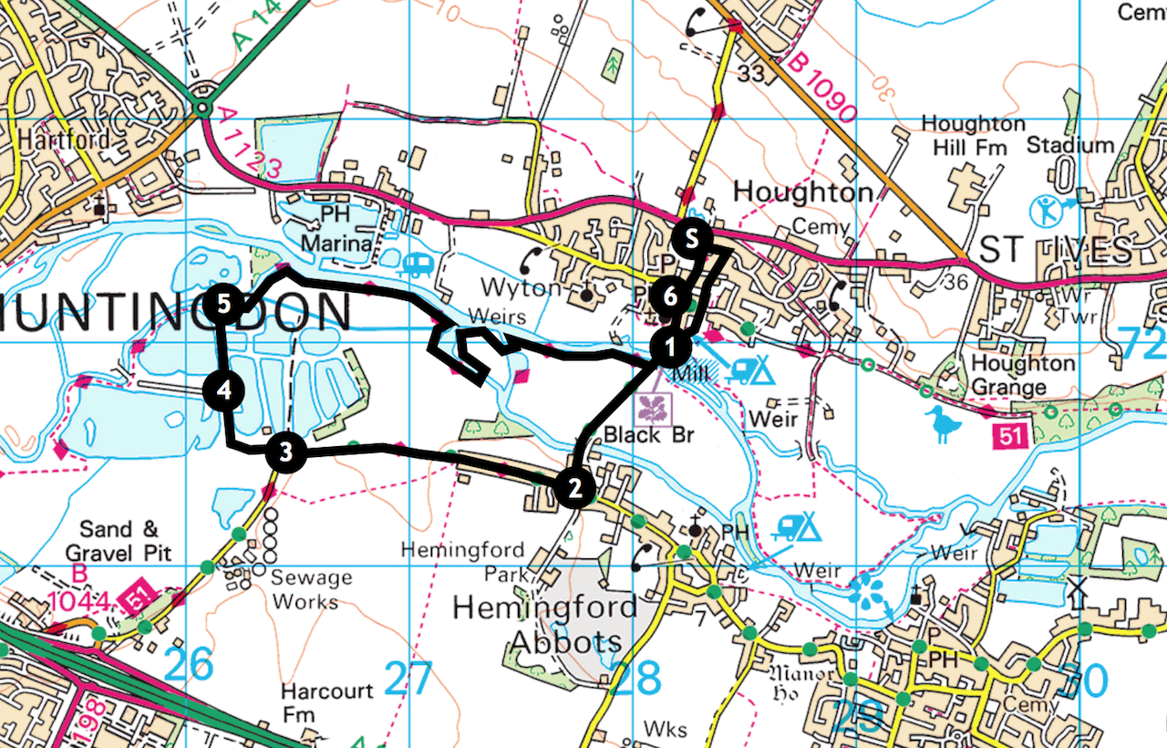 Houghton to Godmanchester Nature Reserve