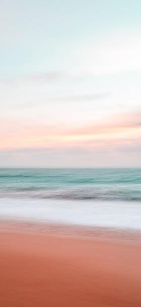 خلفية تدرجات لونية لأطياف الشاطئ
