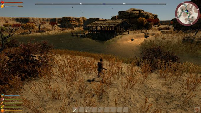 Into The Valley a unique survival game for one player, with a third-person view an adventure RPG in Ancient Egypt, in BC.