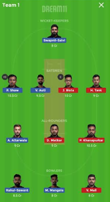 NMP vs SS dream 11 team