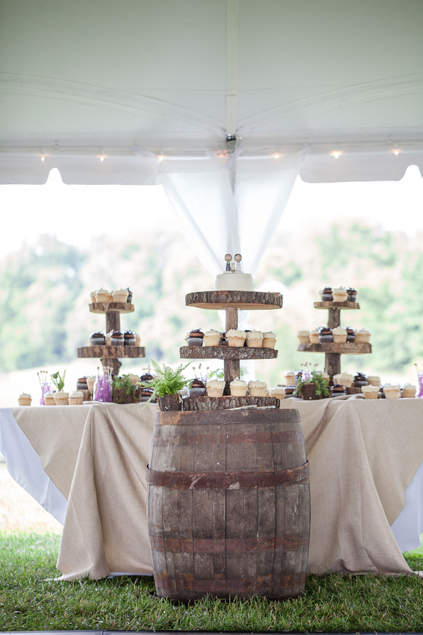 rustic+wedding+shabby+chic+summer+spring+burlap+moss+green+purple+violet+lavender+mint+emerald+outdoor+horse+cowboy+centerpiece+cake+table+dessert+candy+buffet+1326+studios+20 - Rustic Springtime