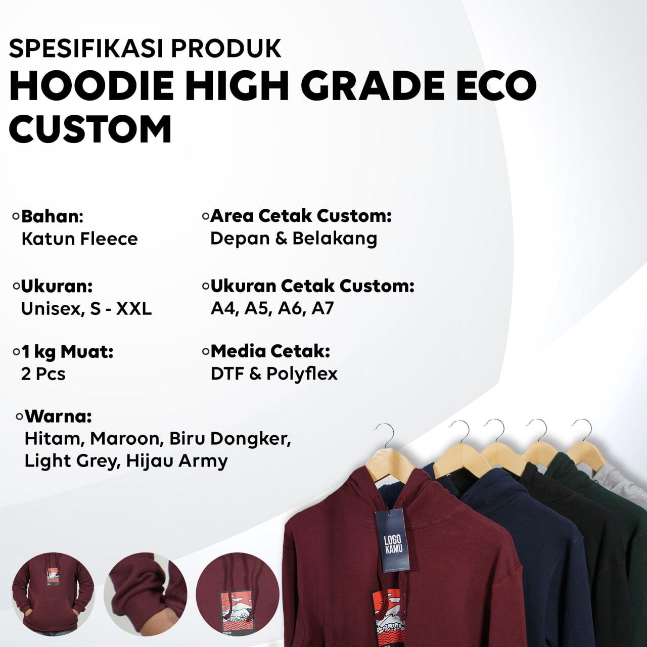 Spesifikasi Hoodie High Grade Eco