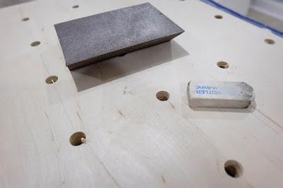 sand block sander polymer eraser grid lines pegboard oversize