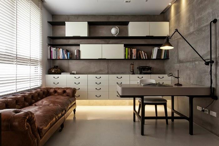 Blog Achados de Decoração. Apartamento decorado estilo industria-rústico-chic