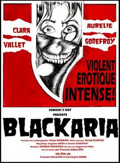 affiche du film Blackaria, Violent, érotique, intense avec Clara Vallet Et Aurélie Godefroy