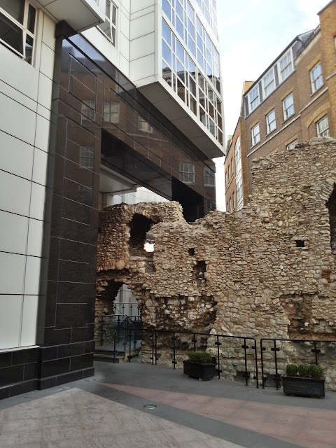 City wall at Cooper's Row, London