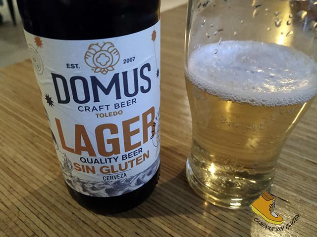 Cerveza artesana sin gluten Domus Toledo