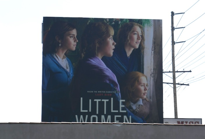 Little Women March sisters billboard