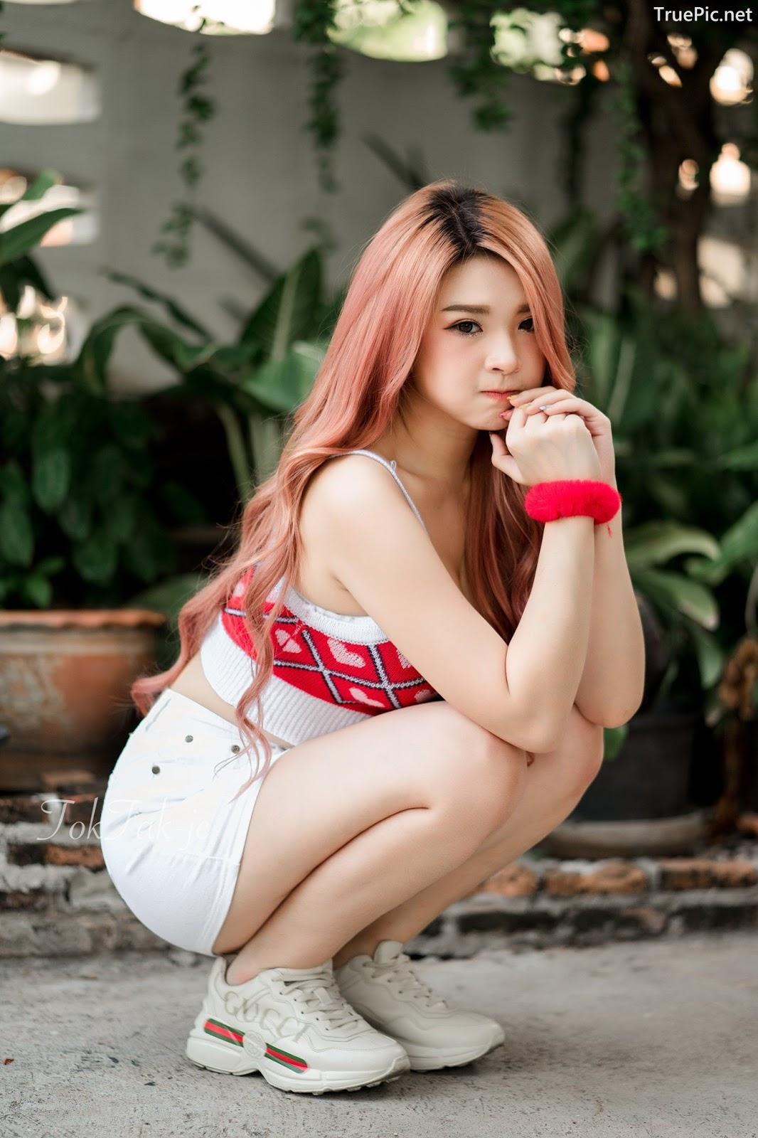 Image Thailand Model - JaJaa Zarinyap - Crop Top and Sort Pants - TruePic.net - Picture-4