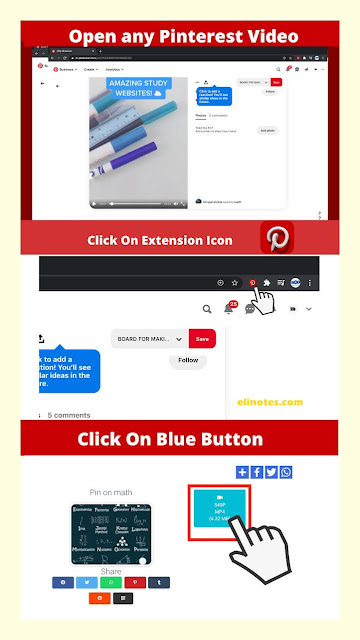 cara download vidio menggunakan extension pinterest vidio downloader