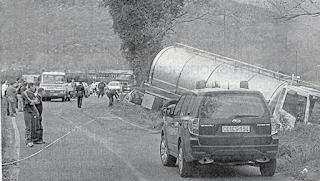 Incidente stradale ad Amaseno, coinvolte una monovolume e una cisterna di trasporto latte
