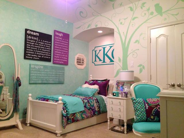 Genç Kızlar İçin yatak odası