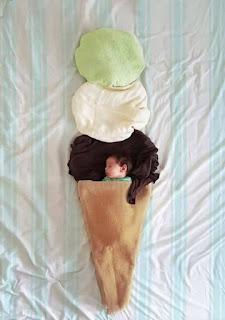 Ideas para fotos de bebés - helado