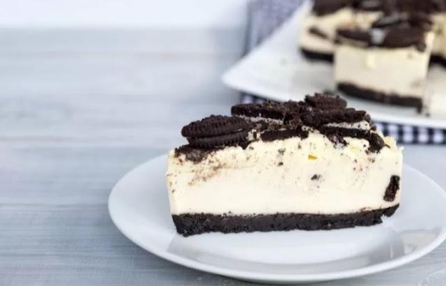 cheese cake lumer dengan toping oreo