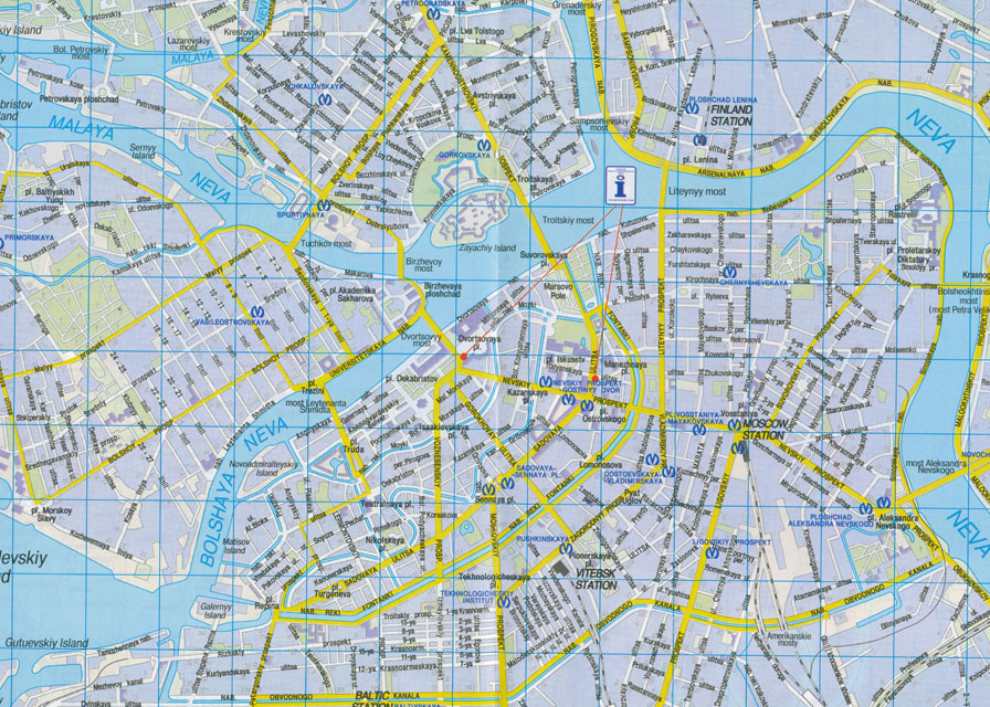 Map of Moscow Free Printable Maps